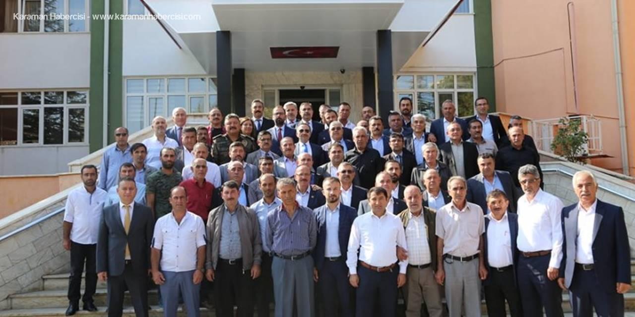Vali Ali Mantı Aksaray'da Görev Yapan Muhtarlarla Buluştu