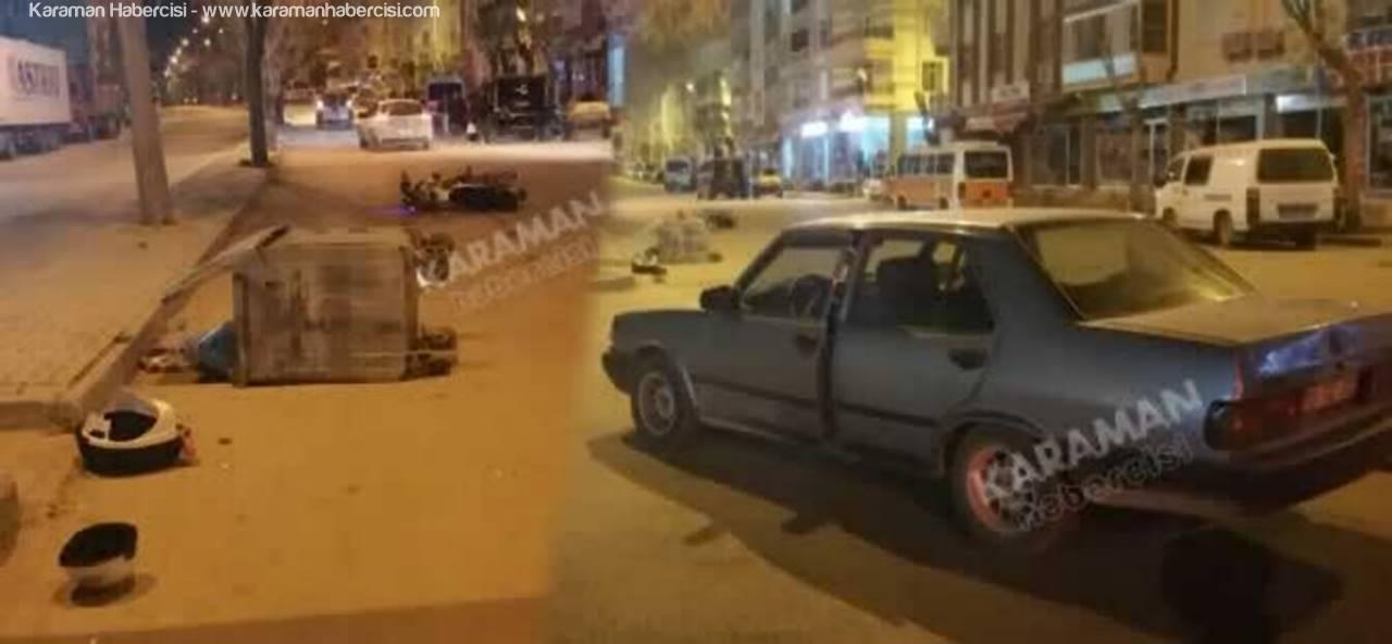 Karaman'da 24 Saatte 3 Yaralanmalı Motosiklet Kazası