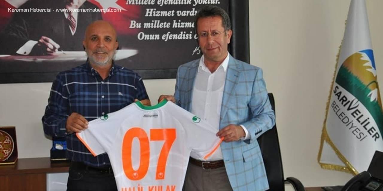 Alanyaspor Başkanı Çavuşoğlu'ndan Sarıveliler Belediyesine Ziyaret