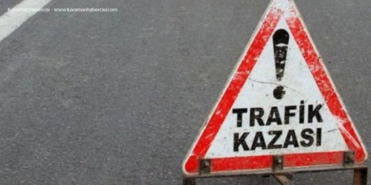 Eskişehir'de Otomobil Yol Kenarındaki Korkuluklara Çarptı: 2 Yaralı