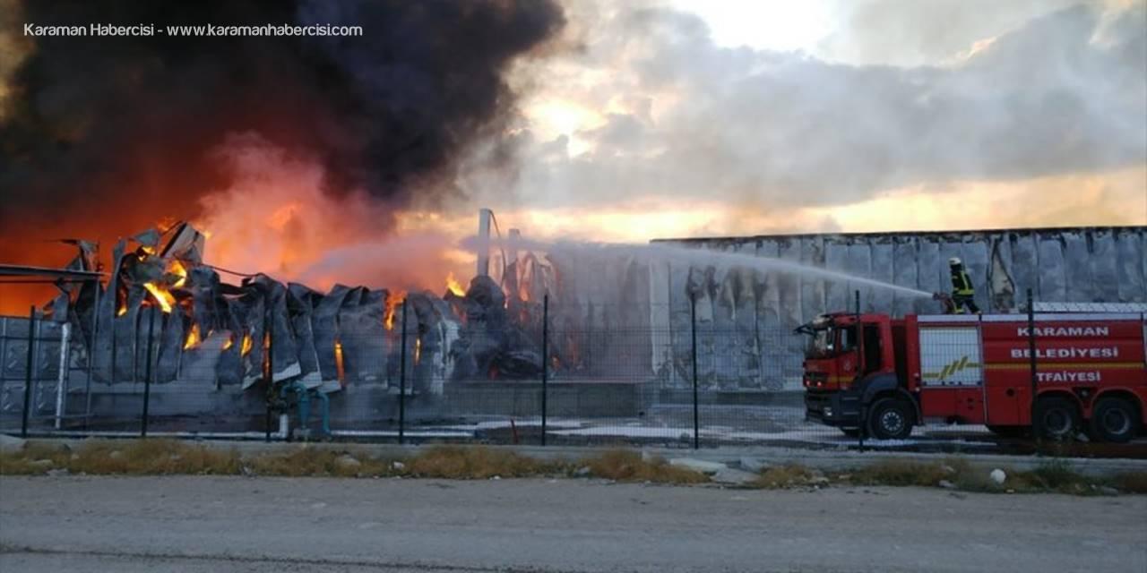 Ereğli'deki Fabrika Yangınına Karaman Ekipleri de Sevk Edildi