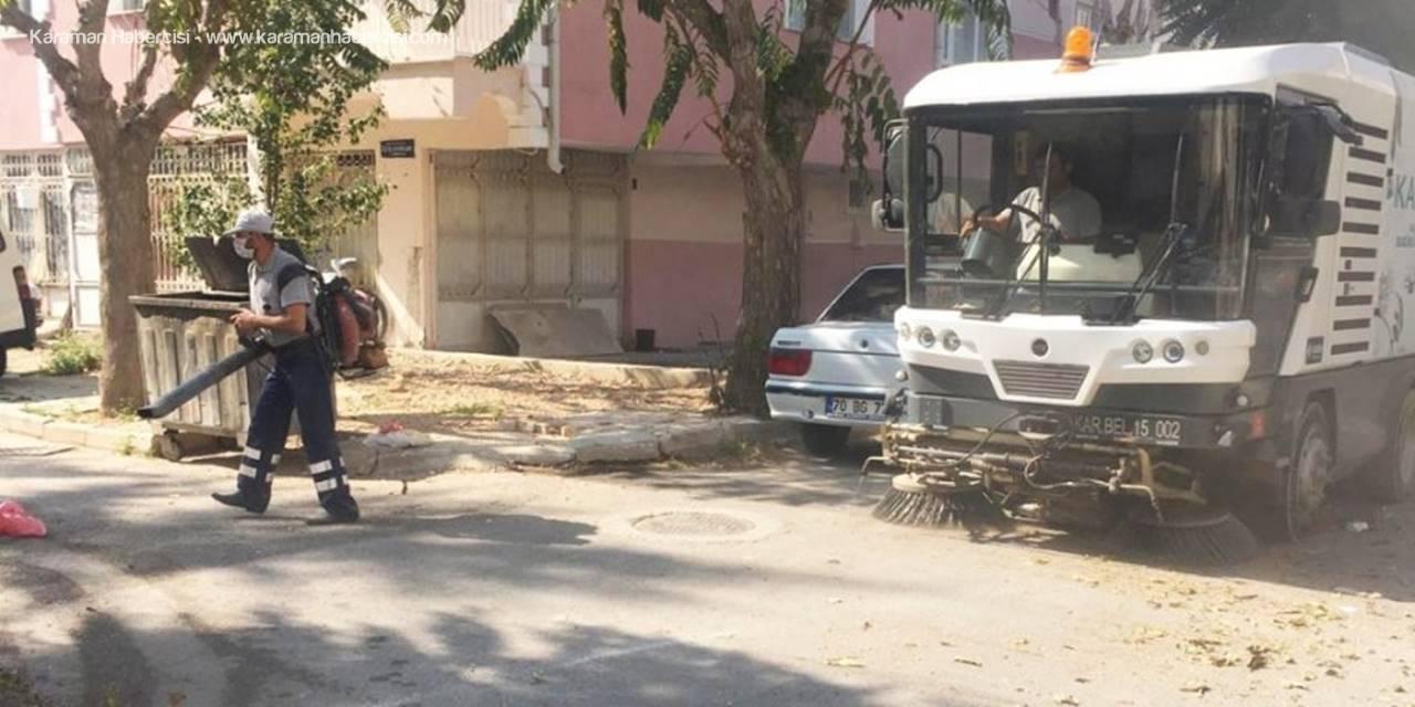 Karaman Belediyesinde Temizlik İşleri Kesintisiz Hizmet Veriyor