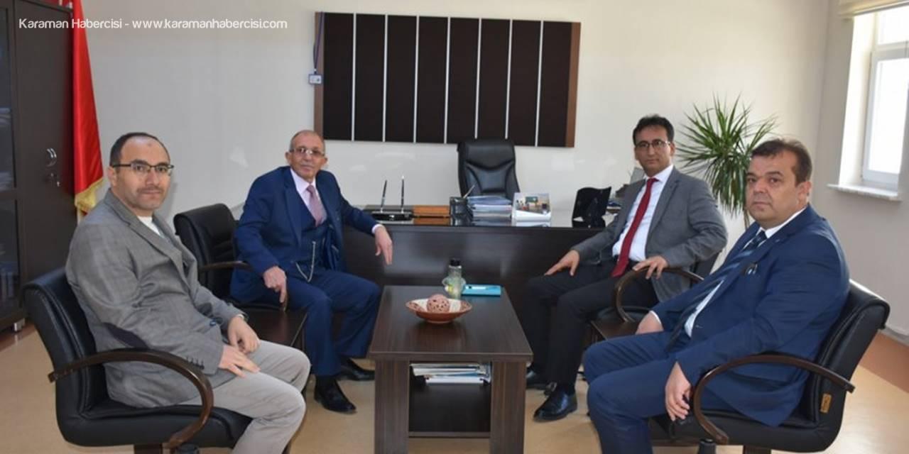 İl Müdürü Mehmet Çalışkan okul ziyaretleri çerçevesinde Karaman Anadolu Lisesi ile Necip Fazıl Kısakürek Sosyal Bilimler Lisesine misafir oldu