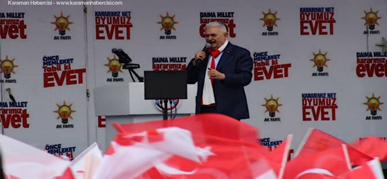 Başbakan Binali Yıldırım Karaman'da