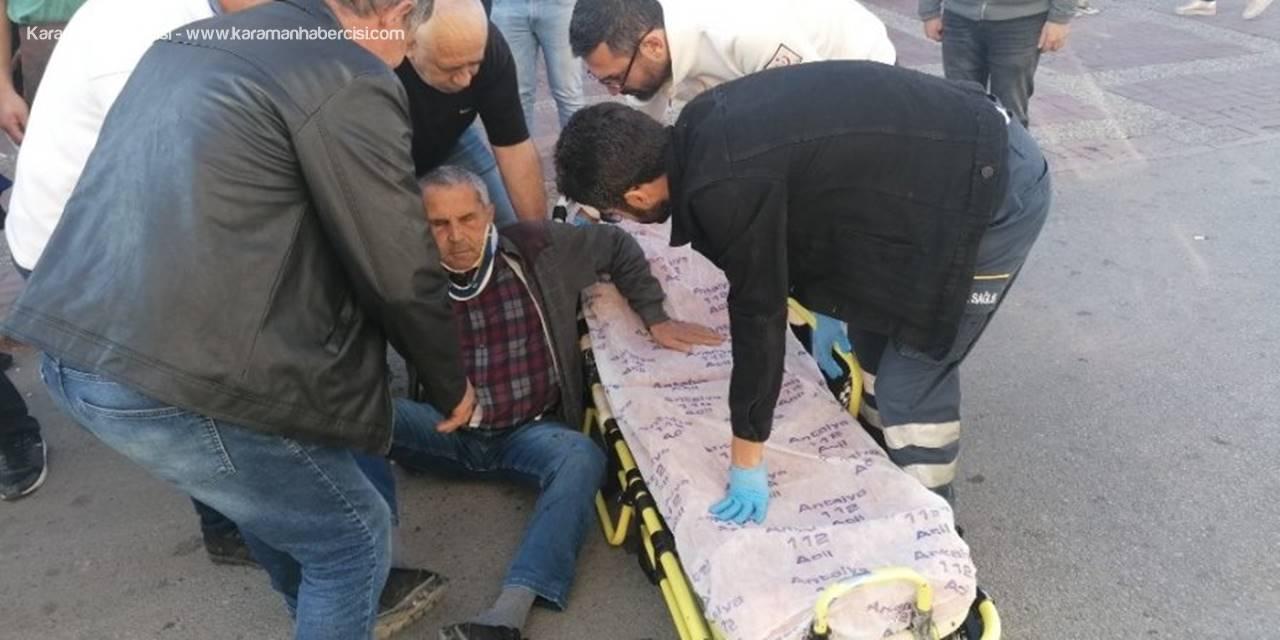 Geri Manevra Yapan Kargo Aracının Altında Kalan Vatandaş Yaraladı
