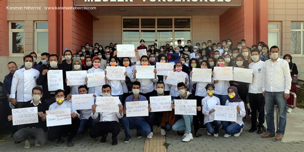 Karamanoğlu Mehmetbey Üniversitesinde (KMÜ) 2-8 Kasım Lösemili Çocuklar Haftası nedeniyle farkındalık etkinlikleri gerçekleştirildi.