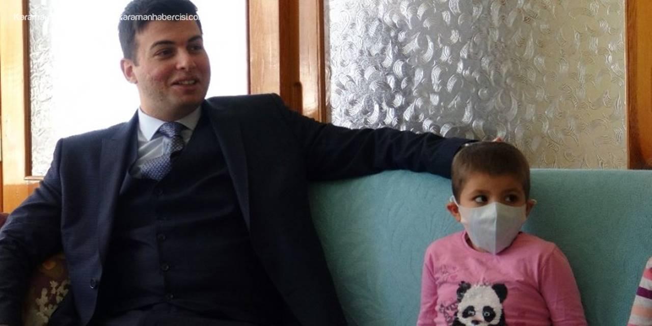 Ermenek'te Lösemi Hastasına Kaymakam Ziyareti