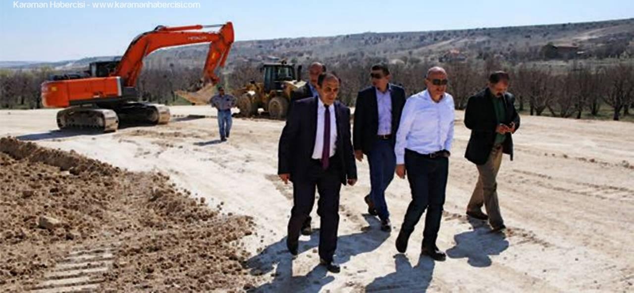 Mut Yolu Köprülü Kavşağı'nda Çalışmalar Devam Ediyor