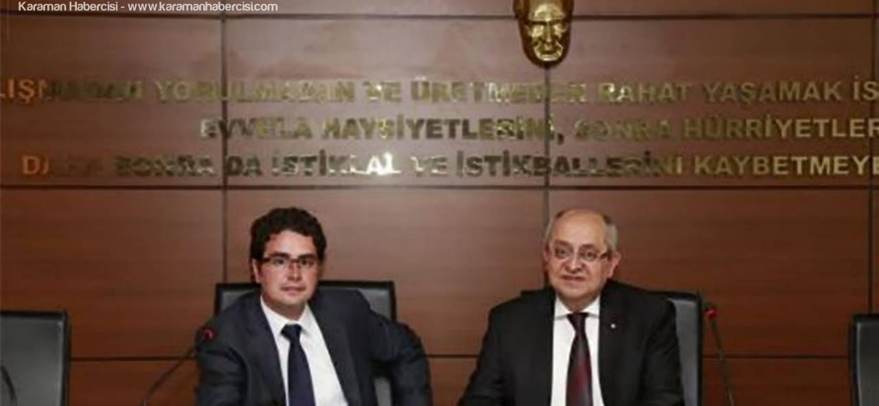 Karaman Ticaret ve Sanayi Odası Meclis Başkanı Mustafa Gökhan Alkan ve Yönetim Kurulu Başkanı Mustafa Toktay Kandil Mesajı