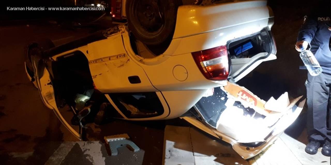 Beypazarı'nda Takla Atan Aracın Sürücüsü Yaralandı