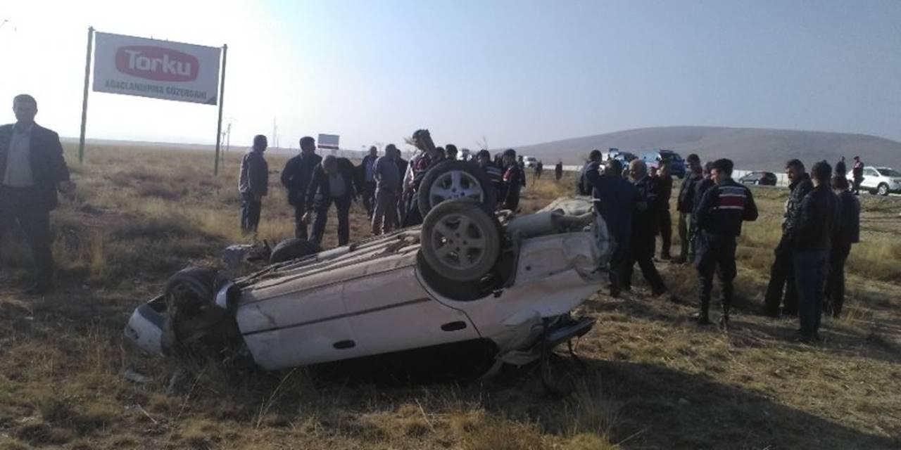 Konya Aksaray Yolunda Trafik Kazası : 1 Ölü, 5 Yaralı