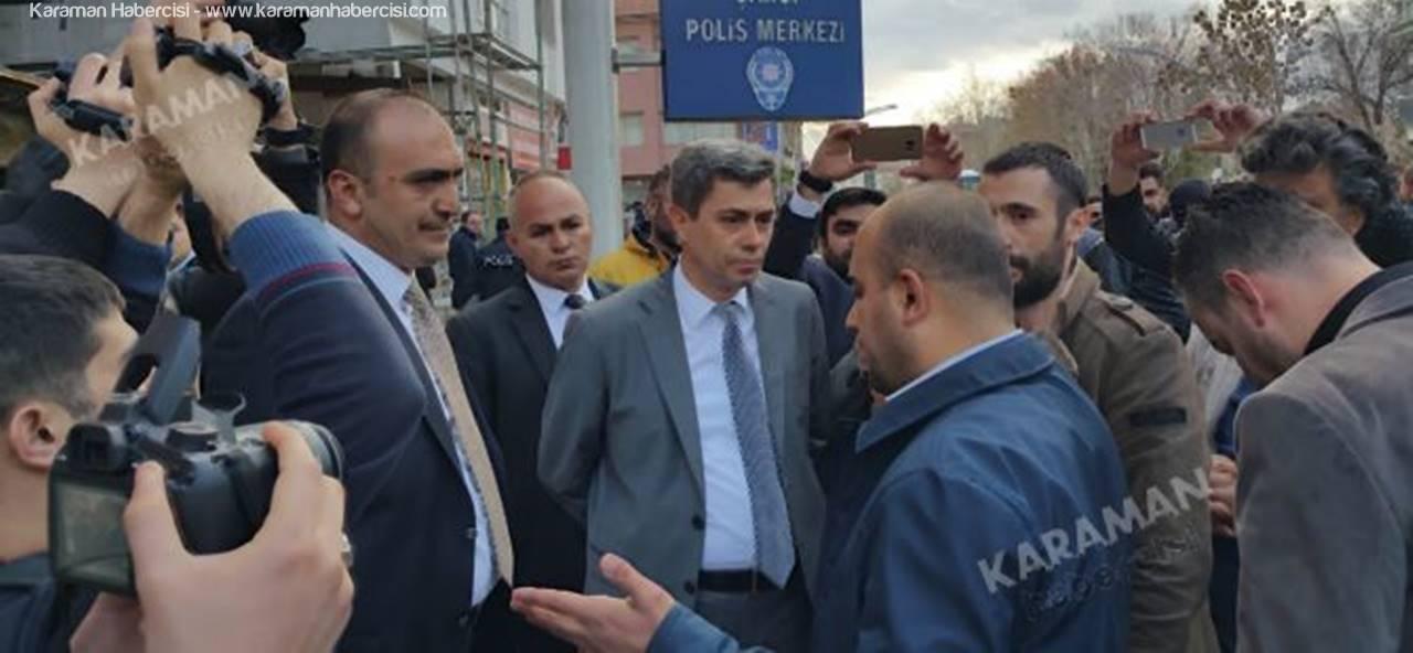 Karaman'da Ülkücü Gençlerin Protestosunda Arbede Çıktı