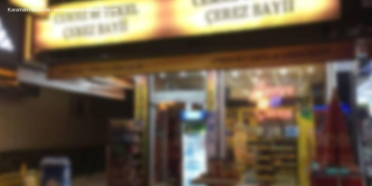Karaman'da Tekel Bayiine Hırsızlık Şoku