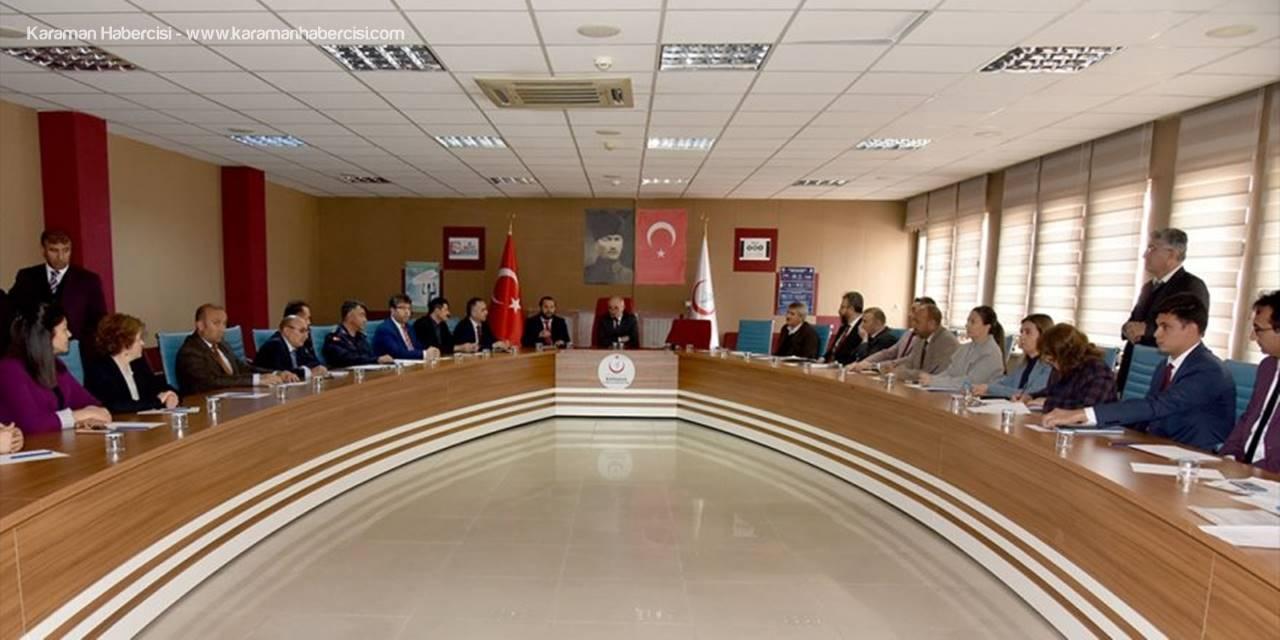 Karaman'da Bağımlılıkla Mücadele İl Koordinasyon Kurulu Toplandı