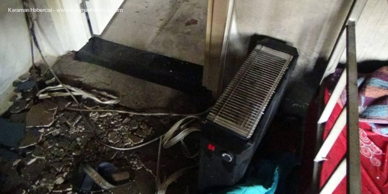 Fişte Takılı Bırakılan Elektrikli Isıtıcılar Yangına Sebep Oldu