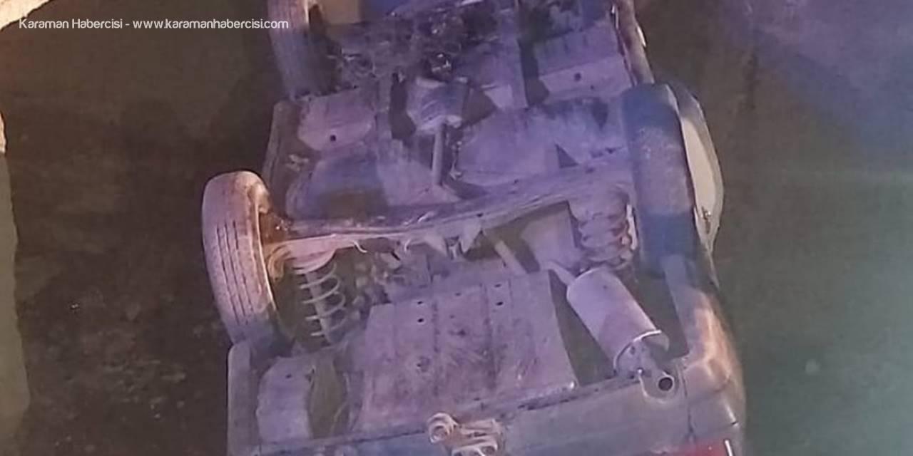 Karaman'da Otomobil Sulama Kanalına Düştü: 3 Yaralı