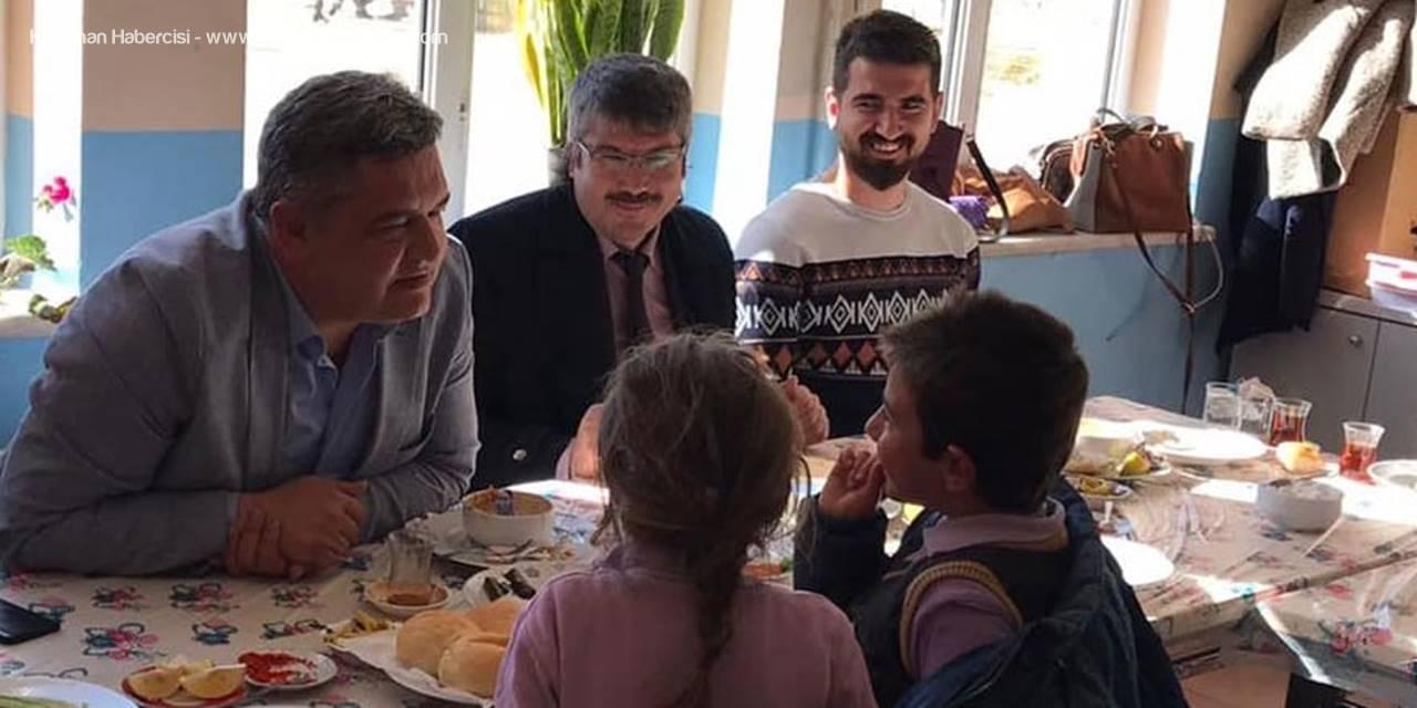 Ermenek'te Başkan Zorlu'dan Okul Ziyaretleri
