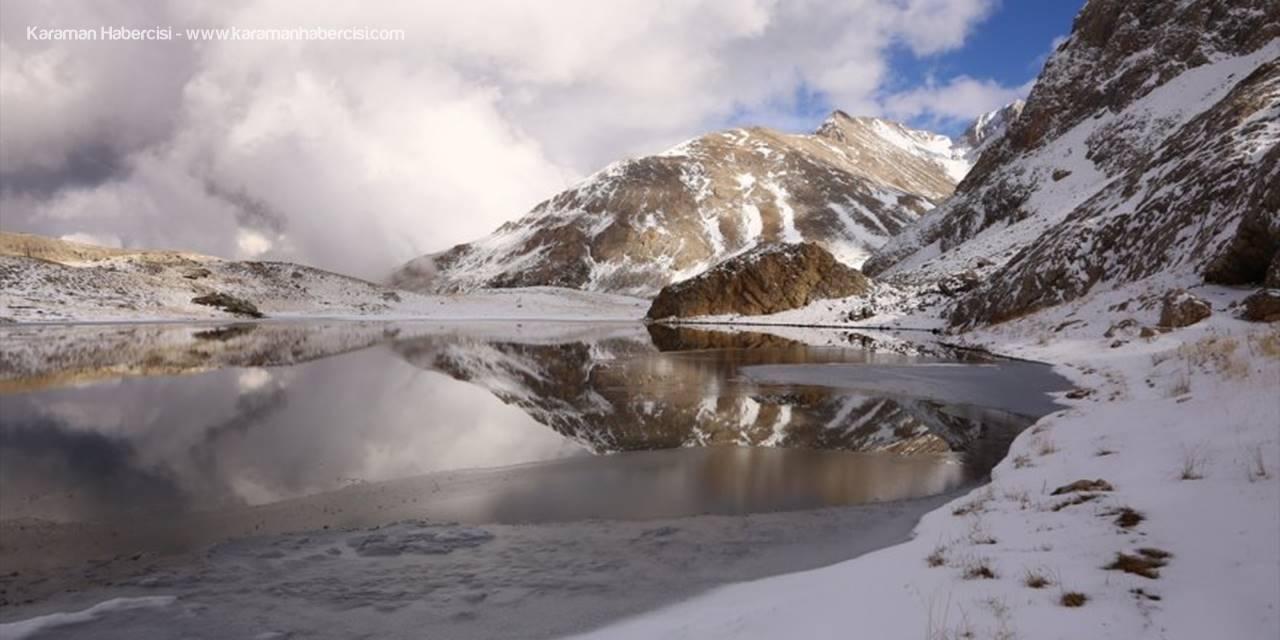 Bolkar'daki Buzul Göllerinde Kış Bir Başka Güzel