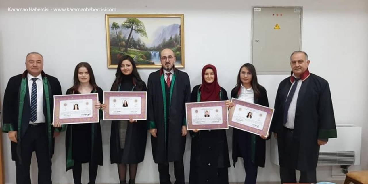 Karaman'da Genç Avukatların Ruhsat Heyecanı