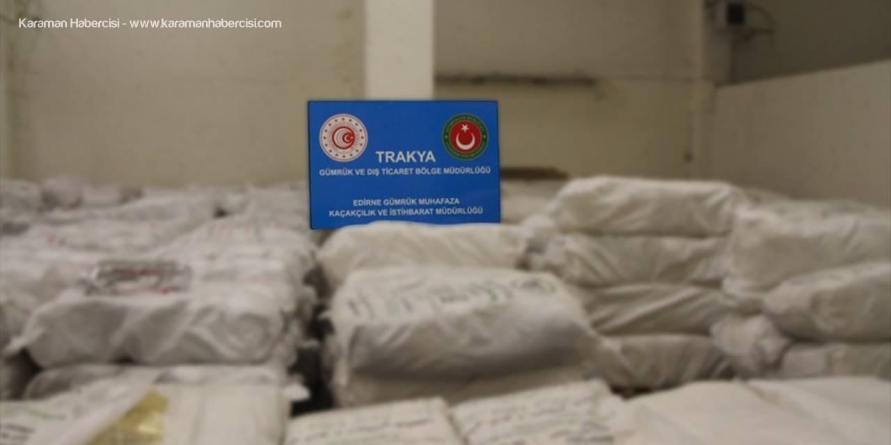 Kapıkule'de Yaklaşık 20,9 Ton Kaçak Çay Ele Geçirildi