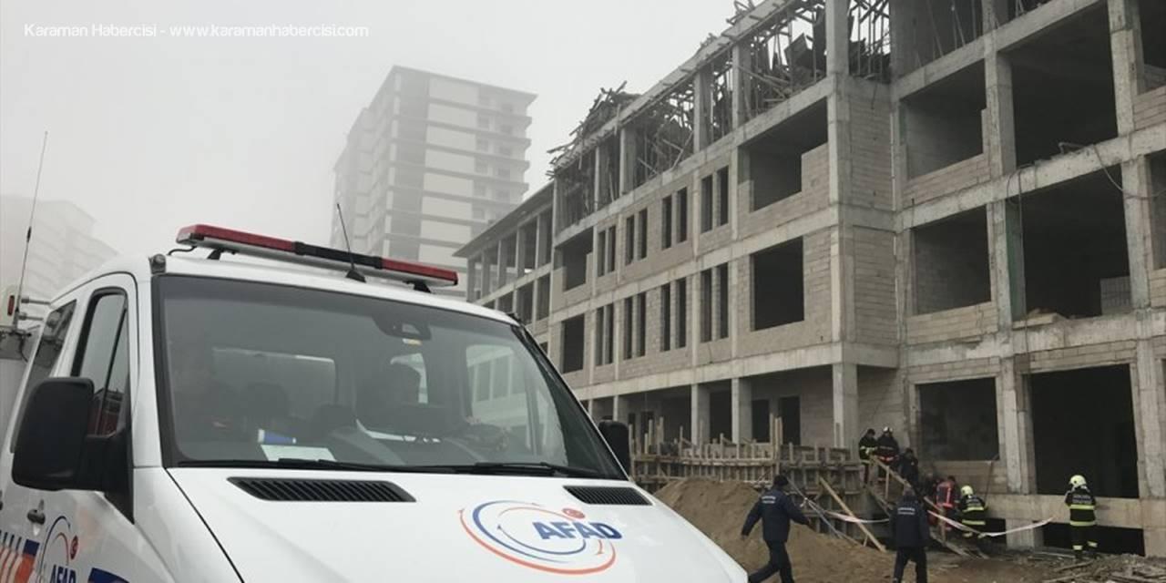 Başkentte Okul İnşaatında İskele Çöktü: 1 Ölü, 1 Yaralı