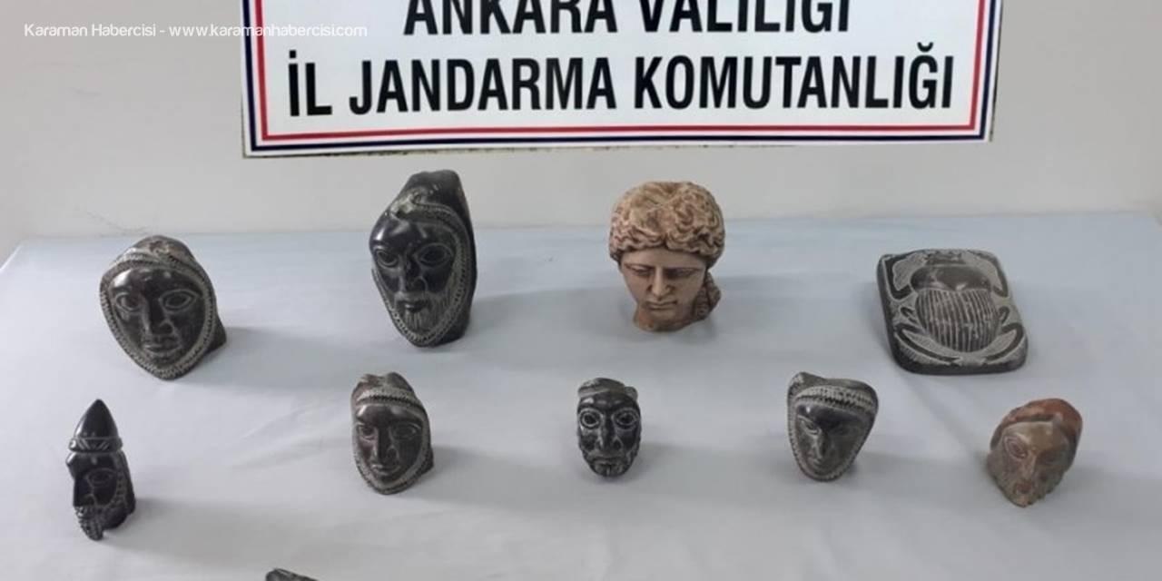 Akyurt'ta Helenistik Döneme Ait 14 Heykel Ele Geçirildi
