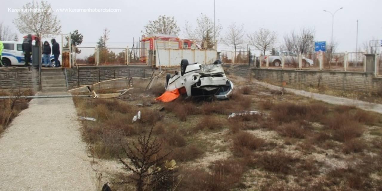 Konya'da Otomobil Bahçeye Yuvarlandı: 1 Ölü