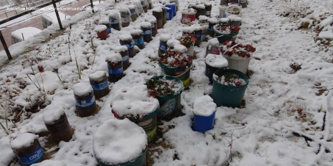 Karaman Kar Yağışı Sonrası Beyaza Büründü