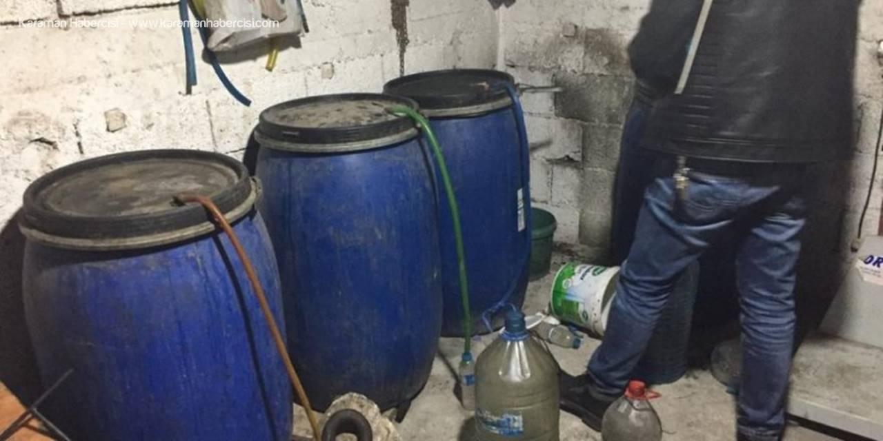 Tarsus'ta Kaçak İçki Operasyonu