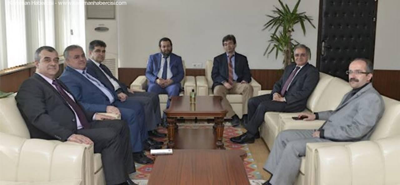 Karaman Milletvekili Recep Şeker Rektör Akgül'ü Ziyaret Etti