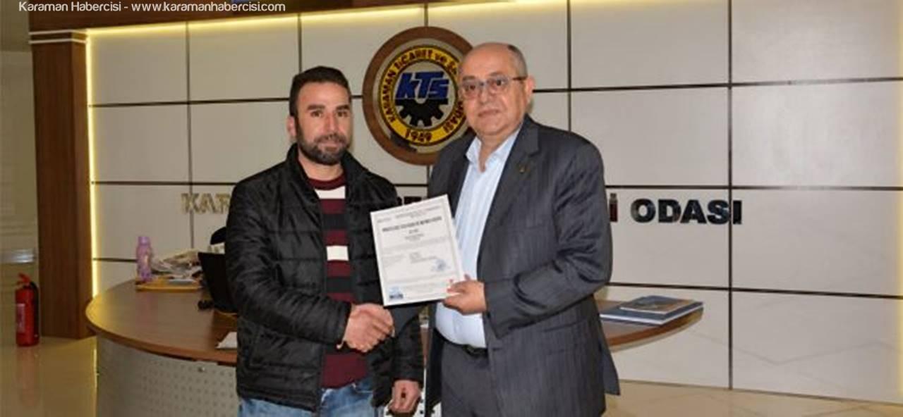 Karaman TSO'da Kursiyerlere Sertifikaları Verildi
