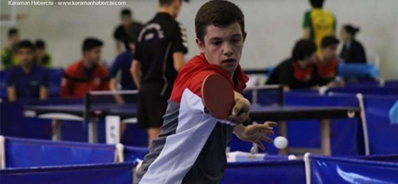 Karaman'da Masa Tenisi Gençler Türkiye Şampiyonası Başladı