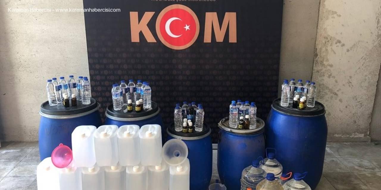 Aksaray'da İçki Kaçakçılığı Operasyonunda İki Zanlı Yakalandı
