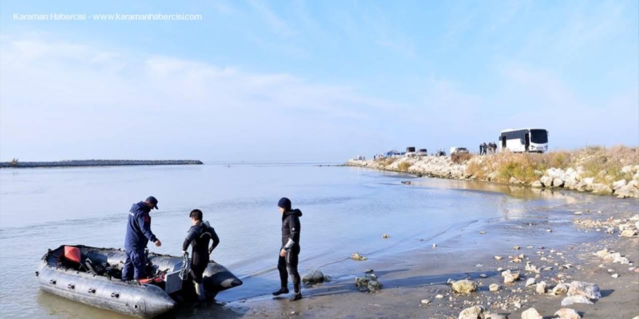 Mersin'de Denizde Kaybolan İki Bekçiyi Arama Çalışmaları Sürüyor