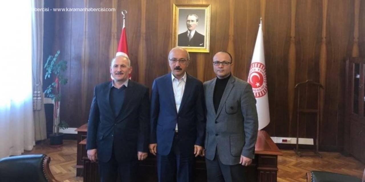 Sarıtaş, Ermenek'in Yatırım Ve Projeleri İçin Ankara'da Temaslarda Bulundu