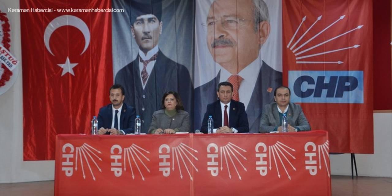 Chp Karaman Merkez İlçe Kongresi Yapıldı