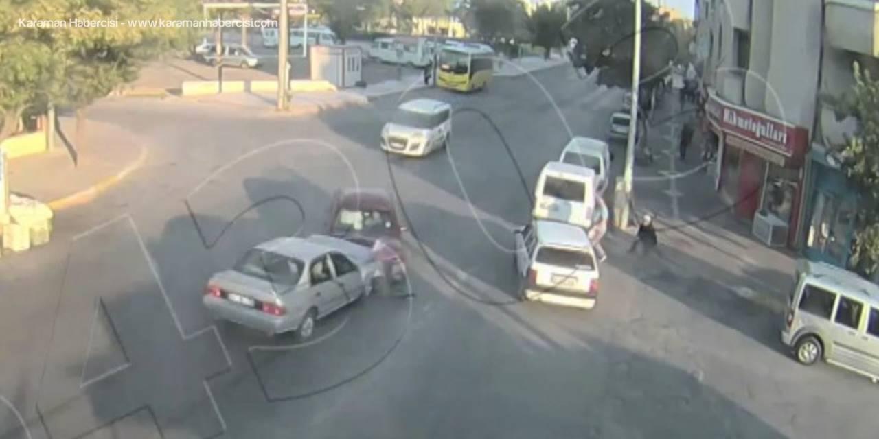 Aksaray'da Yaşanan Trafik Kazası Polis Kamerasında