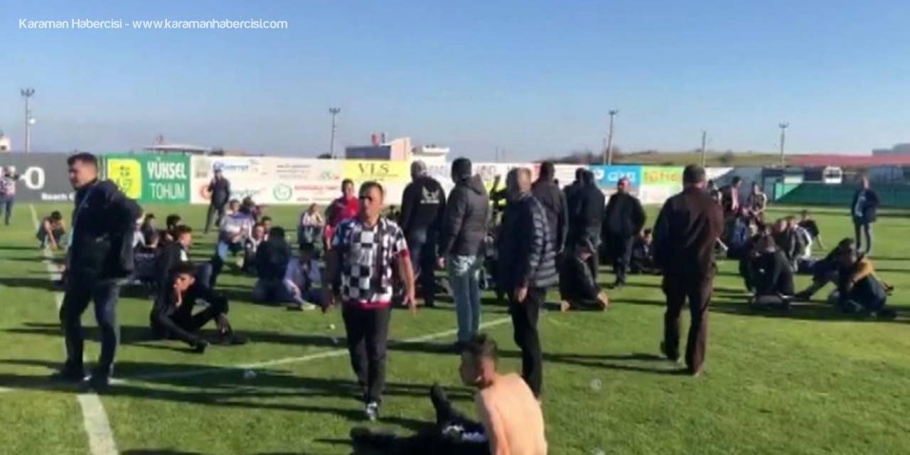 68 Aksaray Belediyespor Serik Maçı Sonrası Arbede
