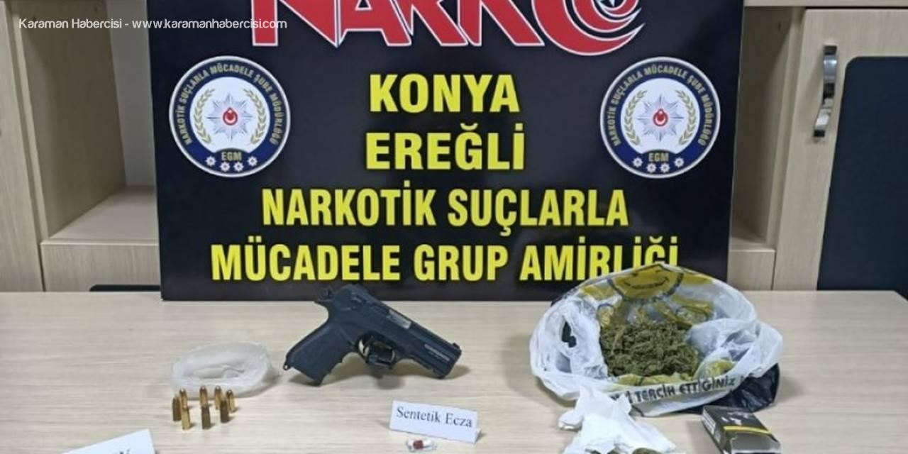 Ereğli'de Durdurulan Araçtan Uyuşturucu Çıktı