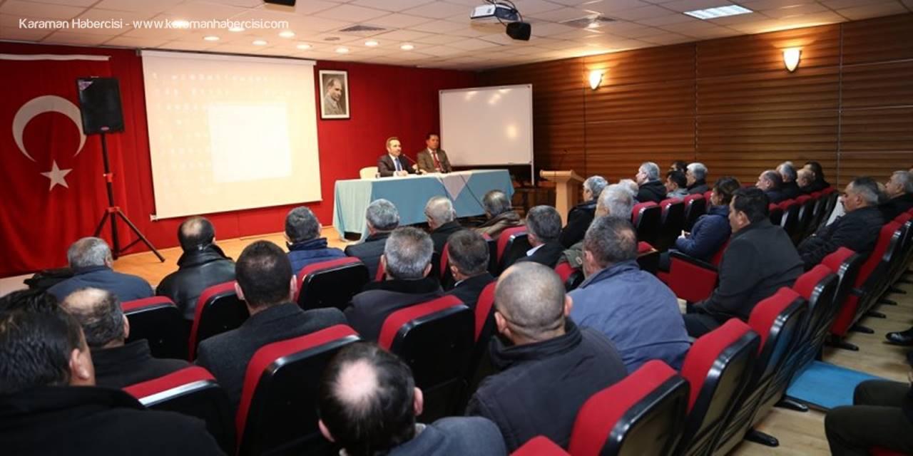 Aksaray'da Muhtarlara Hizmet İçi Eğitim Semineri