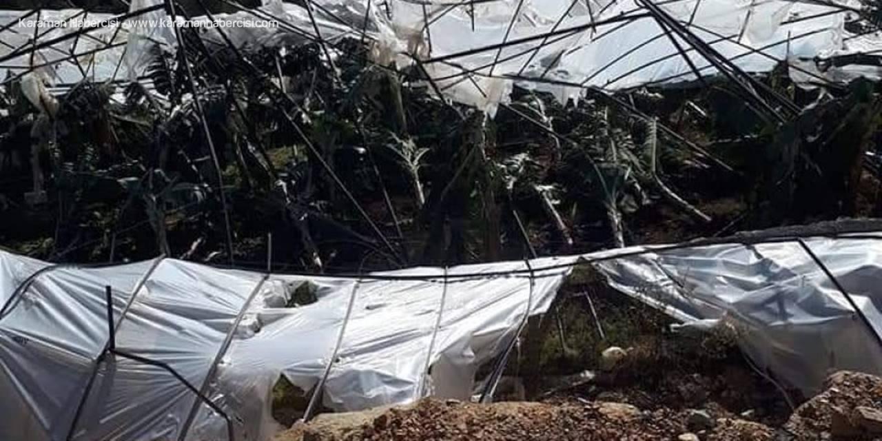 Mersin Bozyazı'da Fırtına Muz Seralarına Zarar Verdi