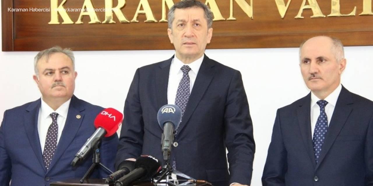 Bakan Selçuk'tan Karaman'da Elazığ Açıklaması