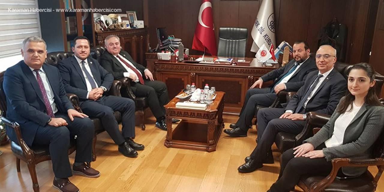 Karaman Heyetinden Türk Dil Kurumuna Ziyaret