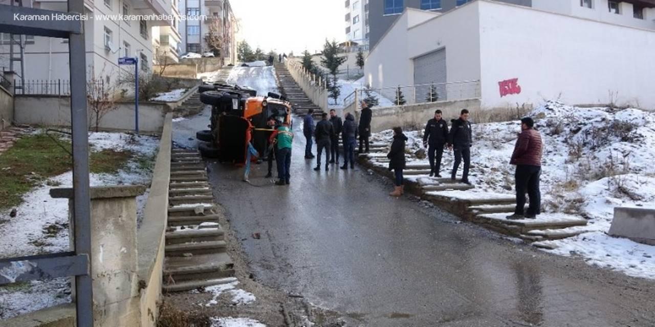 Başkent'te Tuzlama Aracı Devrildi: 1 Yaralı