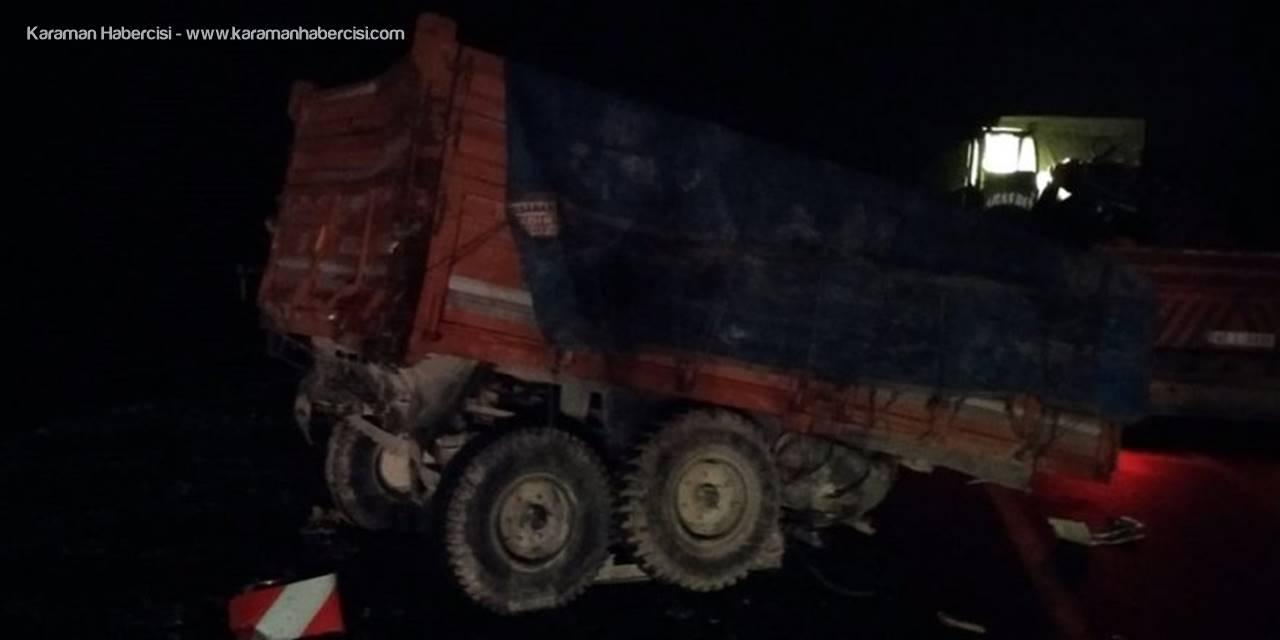 Konya'da Tır İle Traktör Çarpıştı: 1 Ölü, 2 Yaralı