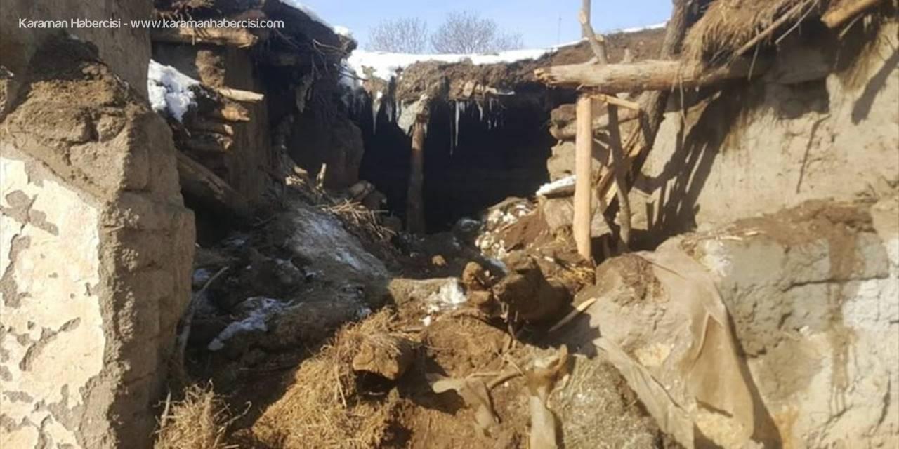 Aksaray'da Ahırın Tavanının Çökmesi Sonucu Bir Kişi Ağır Yaralandı