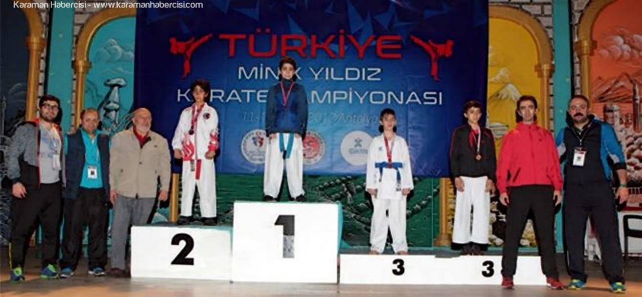 Karamanlı Enes Yeşil Karete'de Türkiye Üçüncüsü