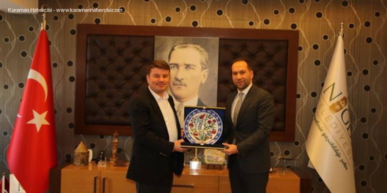 Komşu İllerin Vali, Belediye Başkanı, İl Genel Meclis Başkanları Niğde Belediye Başkanı Emrah Özdemir'e Ziyaret