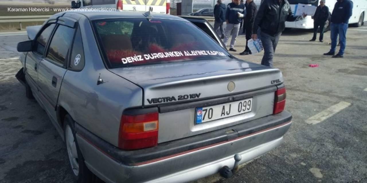 Akşehir Konya Yolunda Otomobille Minibüs Çarpıştı