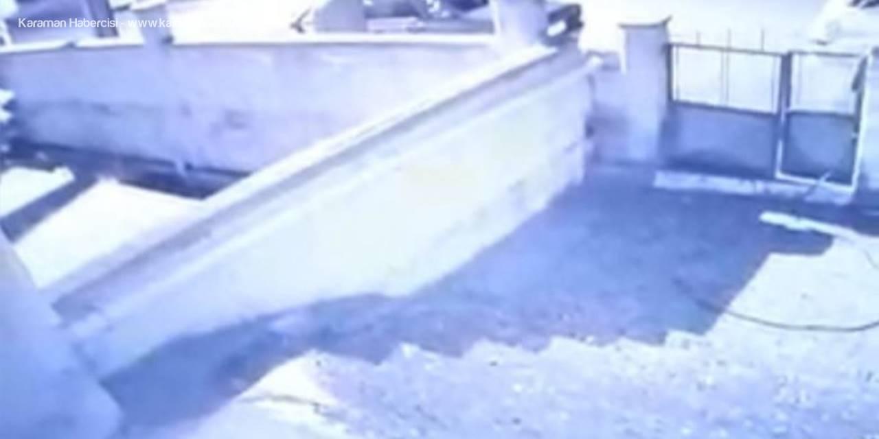 Aksaray'da Hırsızlık Şüphelisi Kameraya Yakalandı